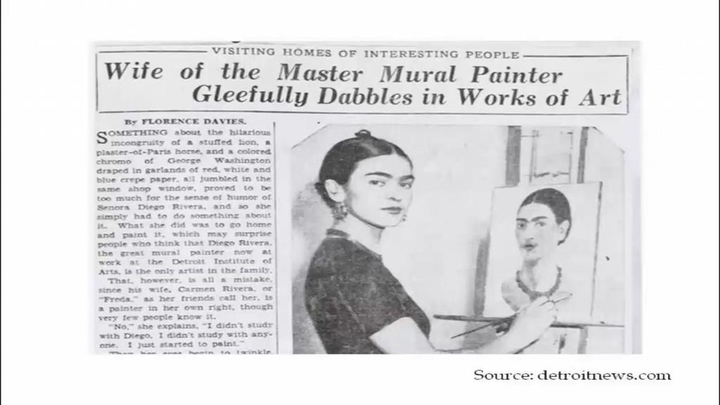 (Refer Slide Time: 42:55) Now, though Kahlo is today known as one of the greatest painters of our time.