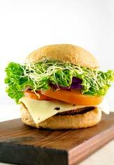 DTE Signature Burgers Down to Earth s house-made veggie burgers are prepared from scratch daily.