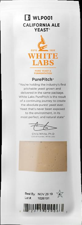 Ships Fast with a Free Ice Pack White Labs WLP705 Sake #7 Yeast