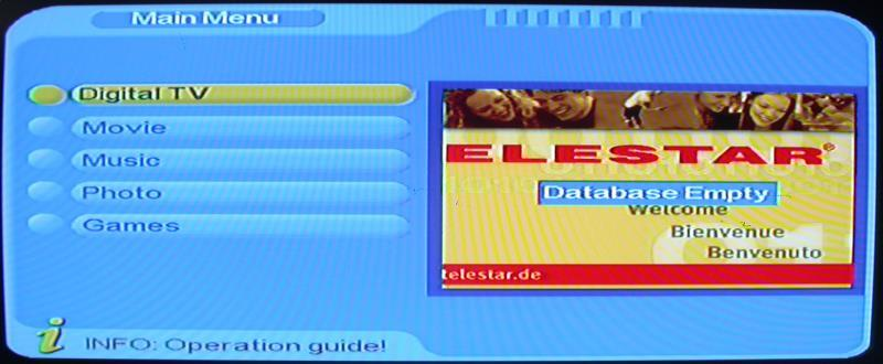 4. Digital TV In the main menu of the system, under Digital TV, there are such as options as Channel manager, installation, configuration, software