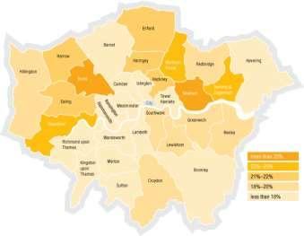 Low paid residents by borough The geographical concentration of this is very different from either the map for unemployment or worklessness.