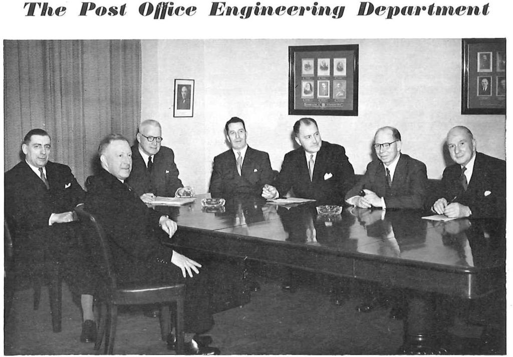 } I (left to right) Mr. A. H. MUMFORD, O.B.E., Deputy EngineerinChief; Mr. H. WILLIAMS, Assistant EngineerinChief; Brig. Sir Lionel H. HARRIS, K.B.E., T.D., EngineerinChief; Mr. R. J. HALSEY, C.M.G.