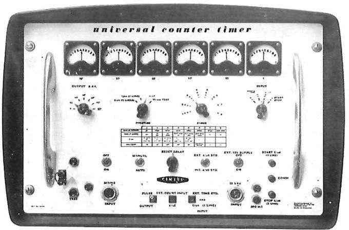 Transistorized UNIVERSAL COUNTER TOMER Frequency Measureme