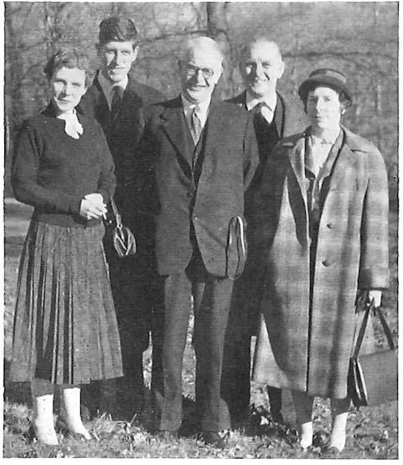 The Post Office Party (left to right) Miss Nan Whitelaw, Assistalll Secretmy, Telephone a11d Telegraph, U11io11 of Post Office Workers; Mr. J. M. Harper, Principal, lnla11d Teleco1111111111icatio11s Depart111e11t; Mr.