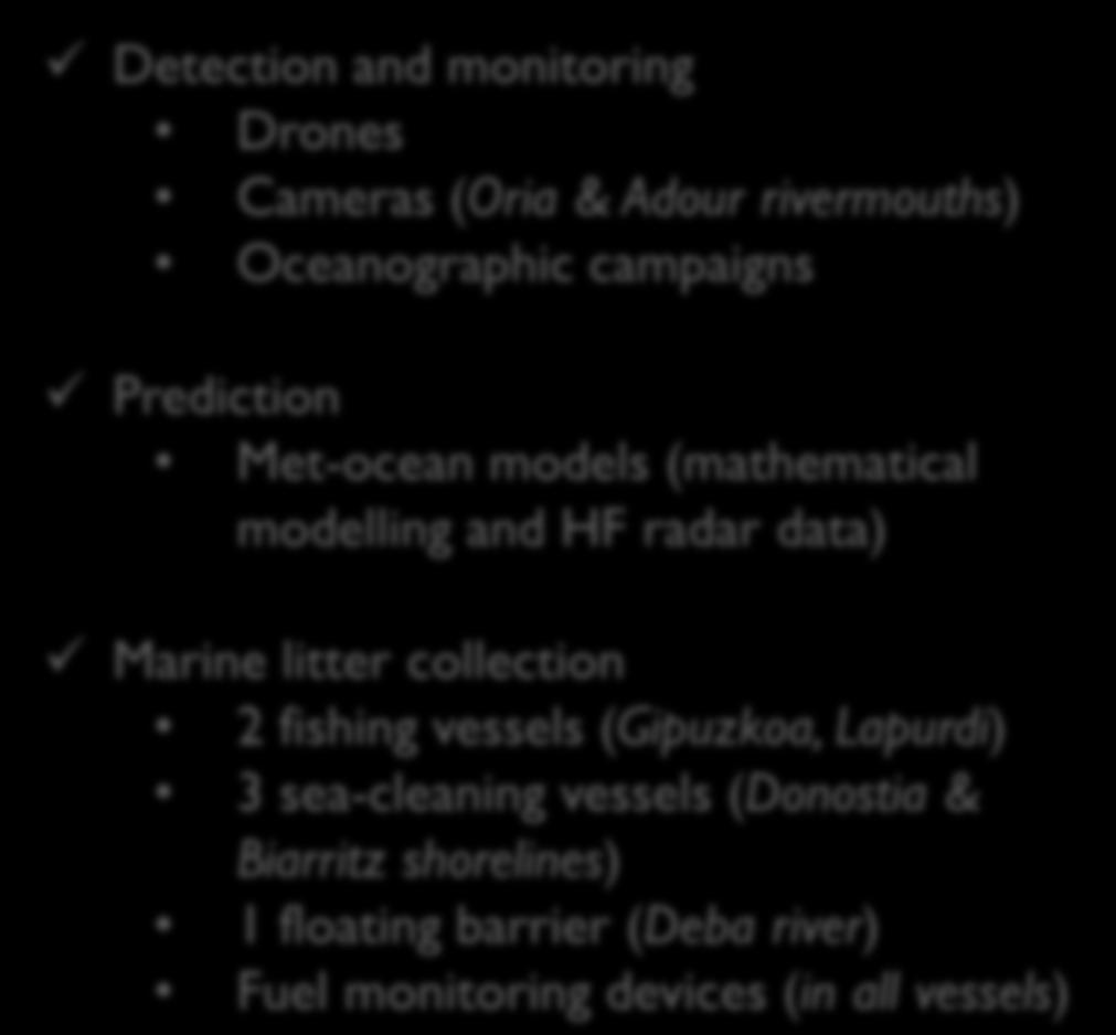 Resources Detection and monitoring Drones Cameras (Oria & Adour rivermouths)
