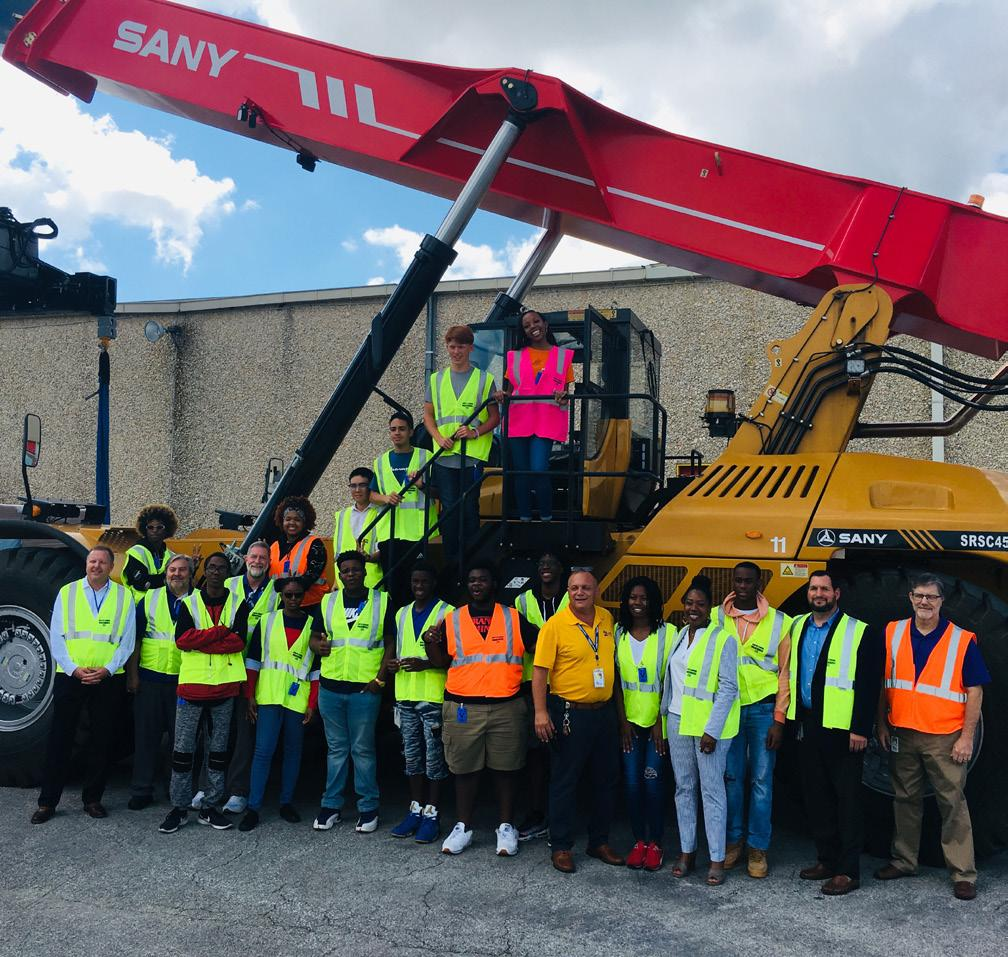 In Northeast Florida, this opportunity transcends one day and encompasses an entire month of manufacturing company tours. High school students from Baker, Clay, Duval, Nassau, Putnam and St.