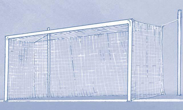 LAW 1 THE FIELD OF PLAY 9 Goals A goal must be placed on the centre of each goal line.
