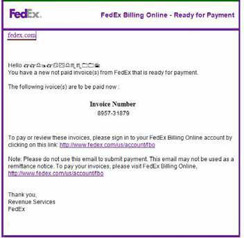 For more information on detecting spoofed emails claiming origin from FedEx, click here.