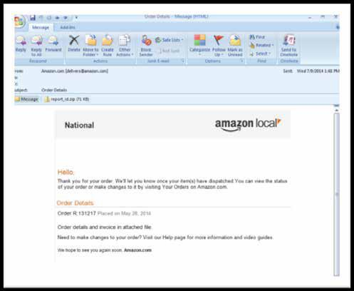 For more information on detecting spoofed emails claiming origin from Amazon, click here.
