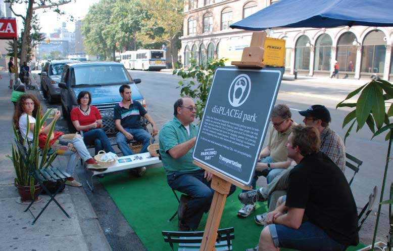 34 In 2007, PPS participated in PARK(ing) Day to transform metered parking spots into PARK(ing) spaces: temporary public spaces. Step 6.
