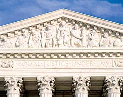 The Judicial Branch: The Supreme Court The Constitution created the Supreme Court, the highest court in the United States. There are nine judges on the Supreme Court. They are called justices.