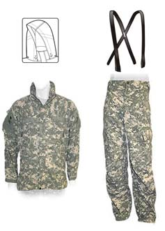 TM 10-8415-236-10 0002 DESCRIPTION OF MAJOR COMPONENTS (OUTER SHELL LAYER(S)) - Cont Soft Shell Jacket and Trousers: Outer Shell Layer Soft Shell Jacket.