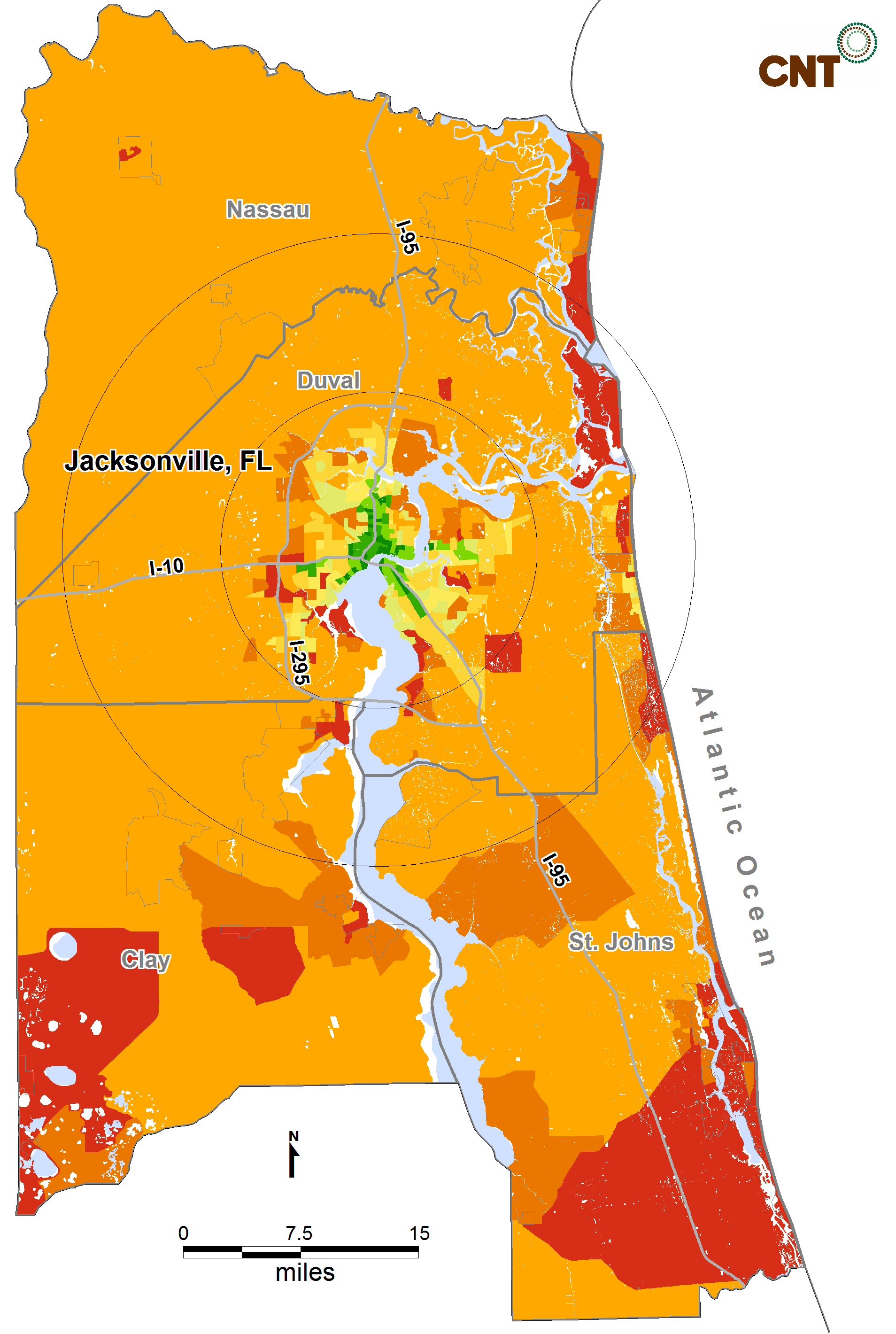 METROPOLITAN TRANSIT ACCESS CASE STUDIES Jacksonville, Florida in 2000 Jacksonville is a metropolitan area of more than 1 million residents.