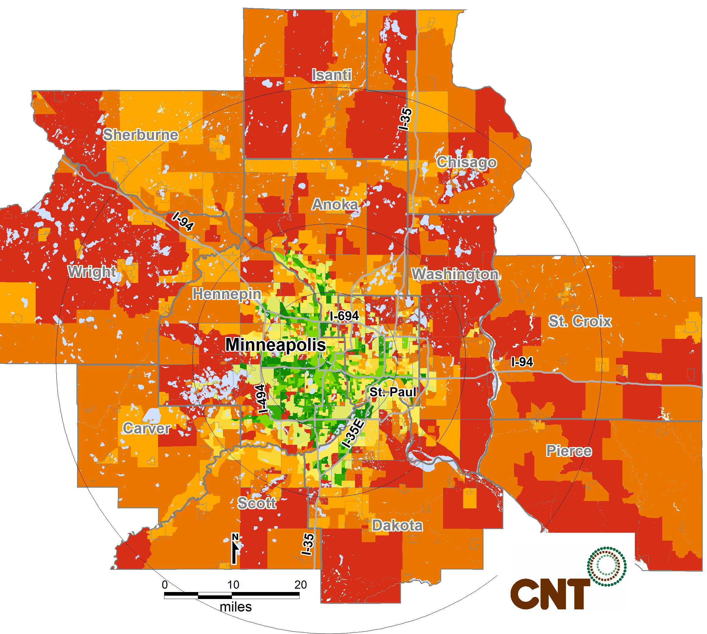 METROPOLITAN TRANSIT ACCESS CASE STUDIES Minneapolis, Minnesota in 2015 The percentage of urban seniors age 65-79 with poor transit access is projected to increase slightly to 11 percent by 2015,
