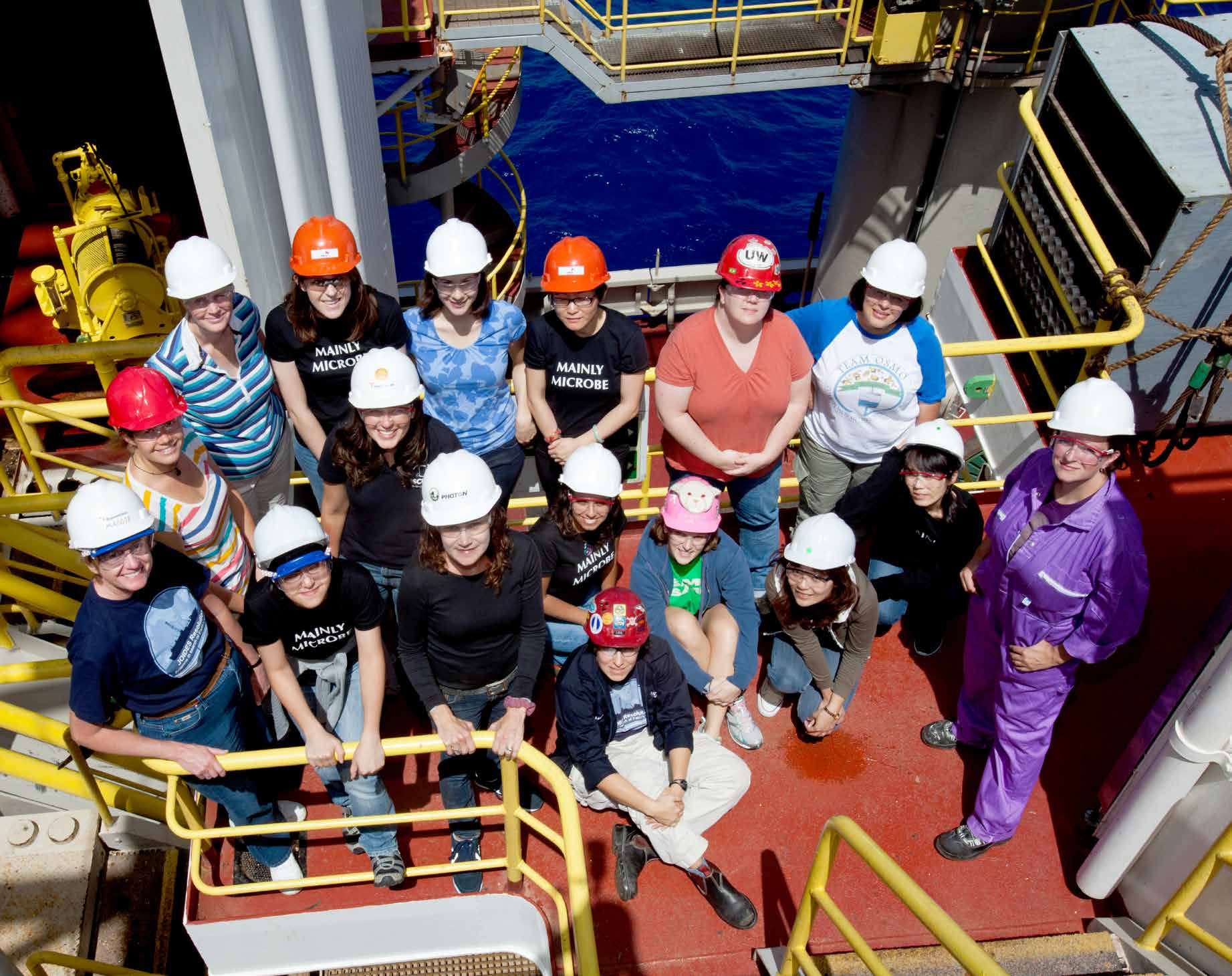 Integrated Ocean Drilling Program Expedition 336 in 2011 had one of the largest groups of female participants the program s history.