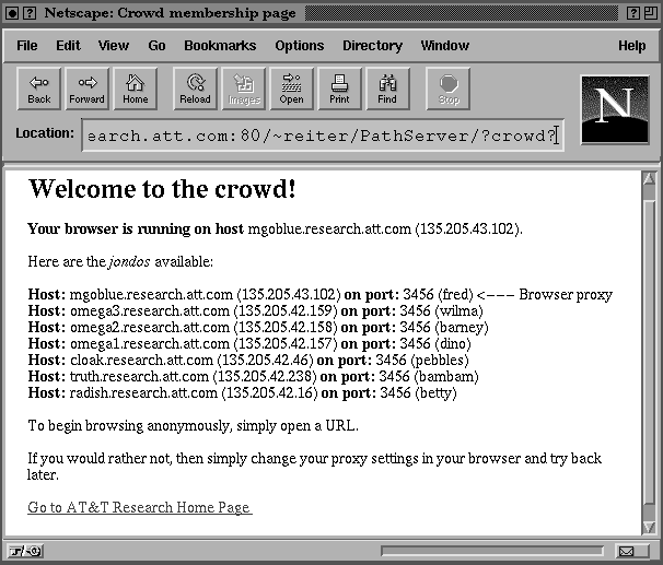 21 Fig. 6. Crowd query: A crowd query shows the jodos that are available, ad idicates which oe is actig as the user s HTTP proxy for the browser. accordig to her jodo.
