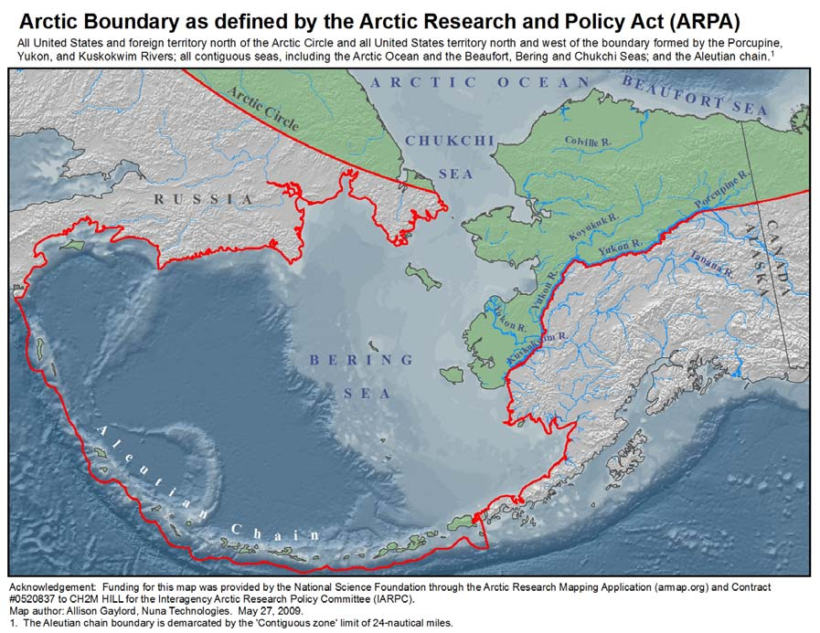 Figure 1. Arctic Area of Alaska as Defined by ARPA Source: U.S. Arctic Research Commission (http://www.arctic.