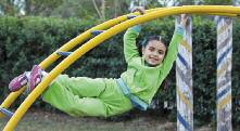 Spiral climbers Upper body equipment (horizontal overhead ladders, overhead rings, track ride).