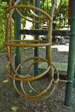 6 6 6 6 Figure 8. Use zone surrounding a freestanding arch climber Rungs should be generally round. All rungs should be secured in a manner that prevents them from turning.