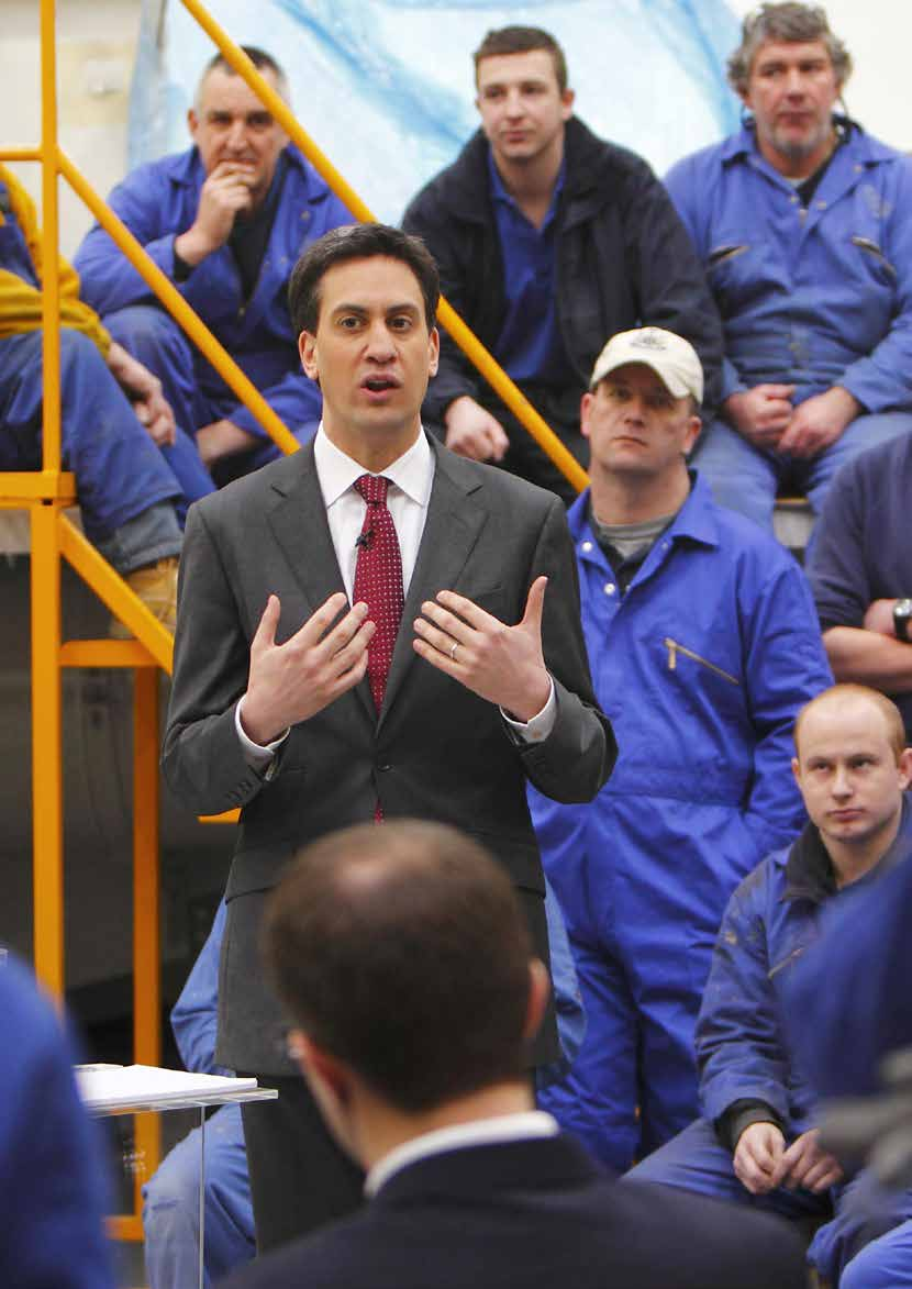 Labour Leader Ed Miliband speaks at a Q&A session with