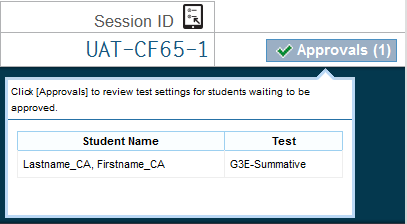 Step Test Administrator Student 14 As students log on, verify that they have selected the correct test and have correct test settings.