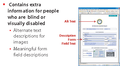 Section Two: Accessibility Basics 14 Security Features One of the advantages of PDF is document integrity and security features.