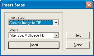 (For PDF Image-only files) Convert Image To TIFF to make the image on each page usable for the OCR software that the Capture Image agent applies.