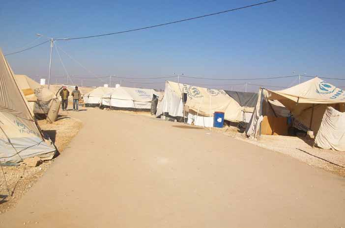 Zaatari Camp in Jordan, home to more than 100,000 Syrian refugees.