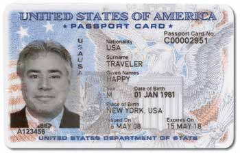 U.S. Passport Card The U.S. Department of State began producing the passport card in July 2008.