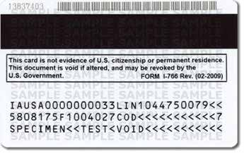 Cards may contain one of the following notations above the expiration date: Not Valid for Reentry to U.S.