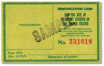 Citizen Identification Card (Form I-197) Identification Card for Use of Resident Citizen in the United States (Form I-179) Form I-179 was issued by INS to U.S. citizens who are residents of the United States.
