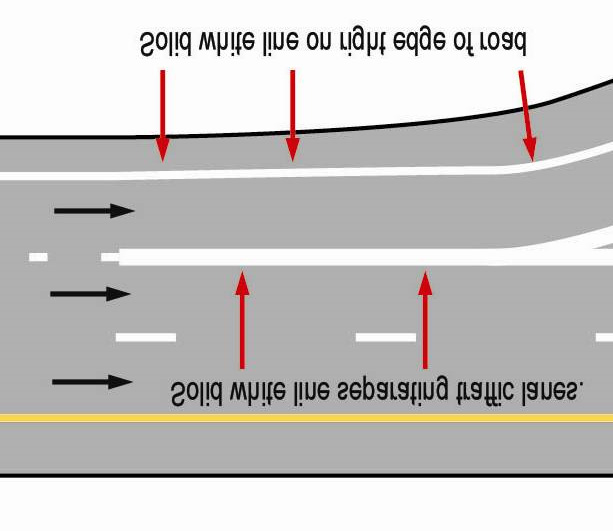 Pavement Markings Pavement markings are white or yellow and, like highway signs, warn, regulate and inform drivers. White Lines White lines separate traffic lanes moving in the same direction.