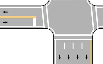 A double solid white line is used to show a travel path where driving in the same direction is permitted on both sides of the line but crossing the line is prohibited.