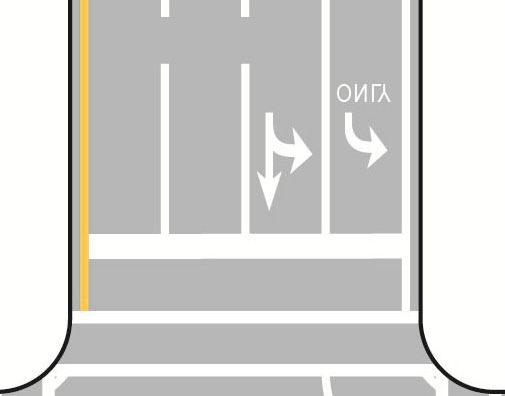 Figure 4-2 Bicycle lanes: A bicycle lane is a portion of the roadway with pavement markings and signs exclusively for bicyclists.