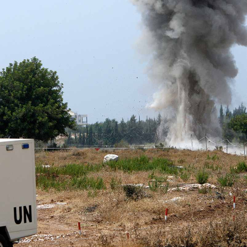 Unexploded Ordnance Destroyed by UN Demining