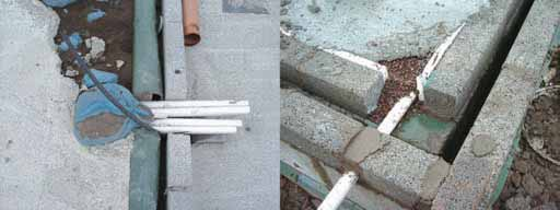 air-tight under common construction conditions. A punctured membrane would potentially act as a trap to collect soil gas and funnel it into the building through any available openings.