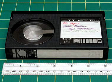 "Betamax FORMAT NAME Betamax (aka Beta) ANALOG OR DIGITAL Analog DATE INTRODUCED 1975 DATES IN USE 1975 to late 1980s in the US TAPE WIDTH 1/2"" TOP CASSETTE DIMENSIONS 6 1/8"" x 3 3/4"" x 15/16"" TAPE"
