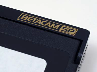 Betacam and BetacamSP IDENTIFYING MARKS IDENTIFYING MARKS SAFE MODE TAPE PLAYERS/RECORDERS BetacamSP (Superior Performance) has technical advantages over Betacam.