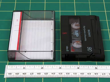 "Video8 and Hi8 FORMAT NAME Video8 (aka 8mm) & Hi8 ANALOG OR DIGITAL Analog DATE INTRODUCED Video8 1984 Hi8 1989 DATES IN USE Video8 1984 to present Hi8 1989 to present FRONT TAPE WIDTH 5/16"" (8mm)"