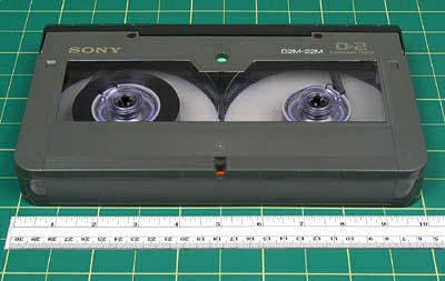 "D2 FORMAT NAME D2 ANALOG OR DIGITAL Digital DATE INTRODUCED 1988 DATES IN USE 1988 to present TAPE WIDTH 3/4 TOP BOTTOM CASSETTE DIMENSIONS Medium cassettes are 10"" x 5 7/8"" x 1 5/16"" and small"