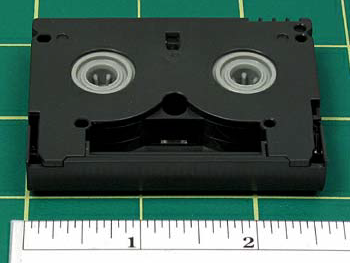 Note that all MiniDV designations for Panasonic tapes are on stickers or the packaging, and may be covered with labels that list title or production information.