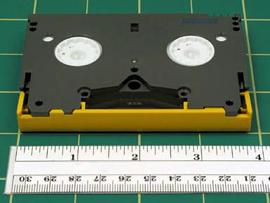 anti-static cover (Fuji). DVCPro logo is in the upper right-hand corner, and tape length is generally listed on left.