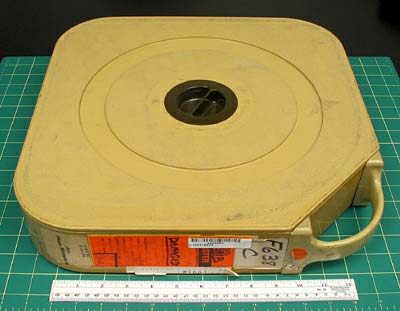 BOTTOM CASE TAPE VARIATIONS AND/OR IDENTIFYING FEATURES Once you have seen a quad case, it will be easy to identify. It is substantially larger and heavier than any of the other video formats.