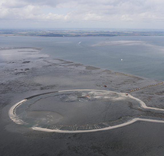 Sand nourishment The Galgeplaat is a large tidal flat in the Eastern Scheldt, with a surface area of 950 hectares.