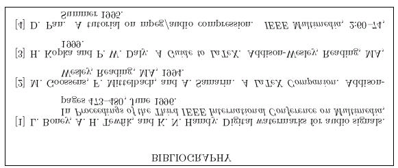 Figure 3. Output of Example 3: Bibliography with plain.bst style. In the text,.
