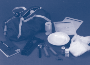 Disaster Supplies Refer to Appendix A, page 40,for a list of disability-related and portable disaster supplies. First Aid Kit: Put together a first aid kit.