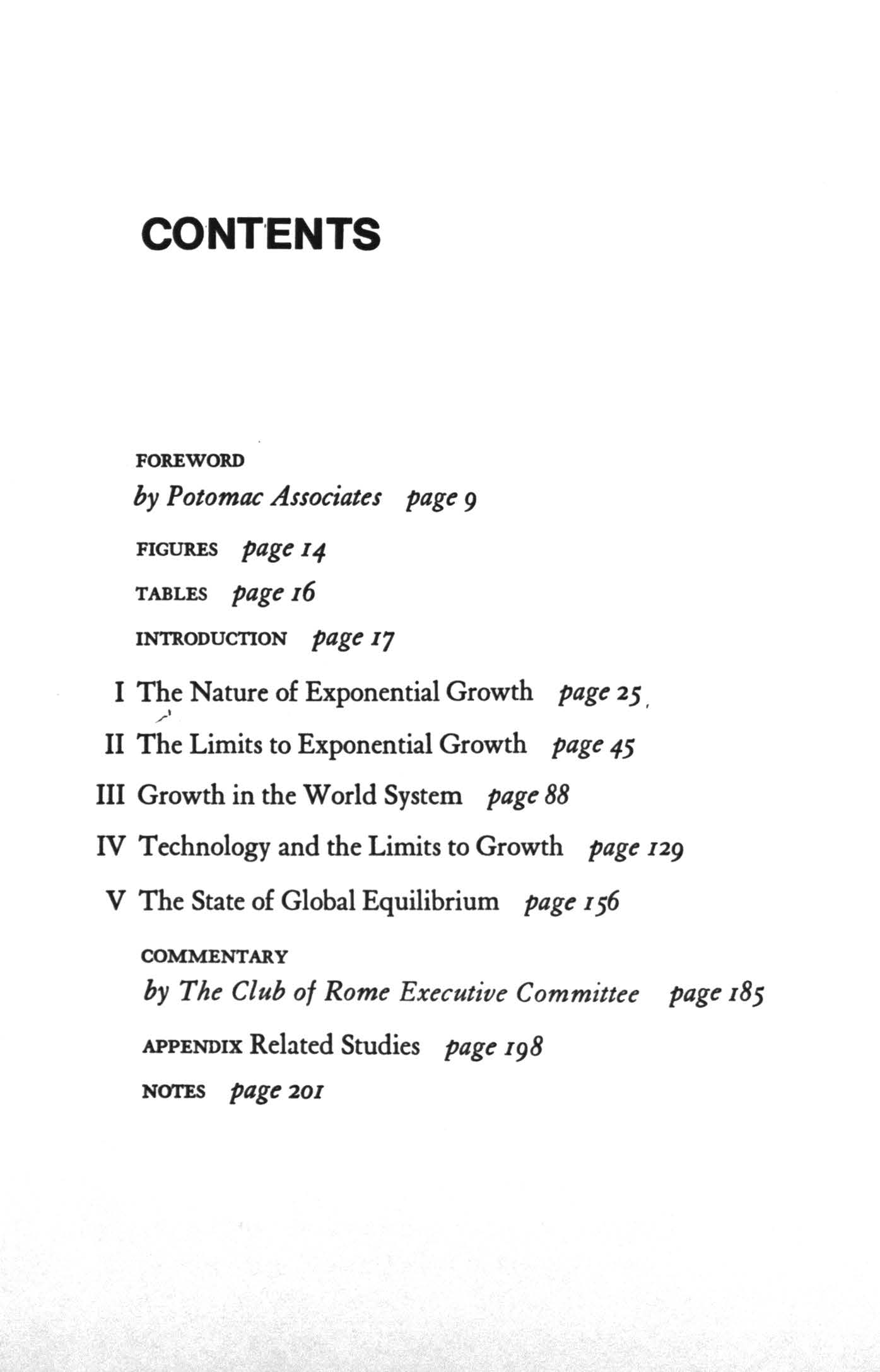 CONT ENTS FOREWORD by Potomac Associates page 9 FGURES page 4 TABLES page 6 NTRODUCTON page 7 The Nature of Exponential Growth page 25.