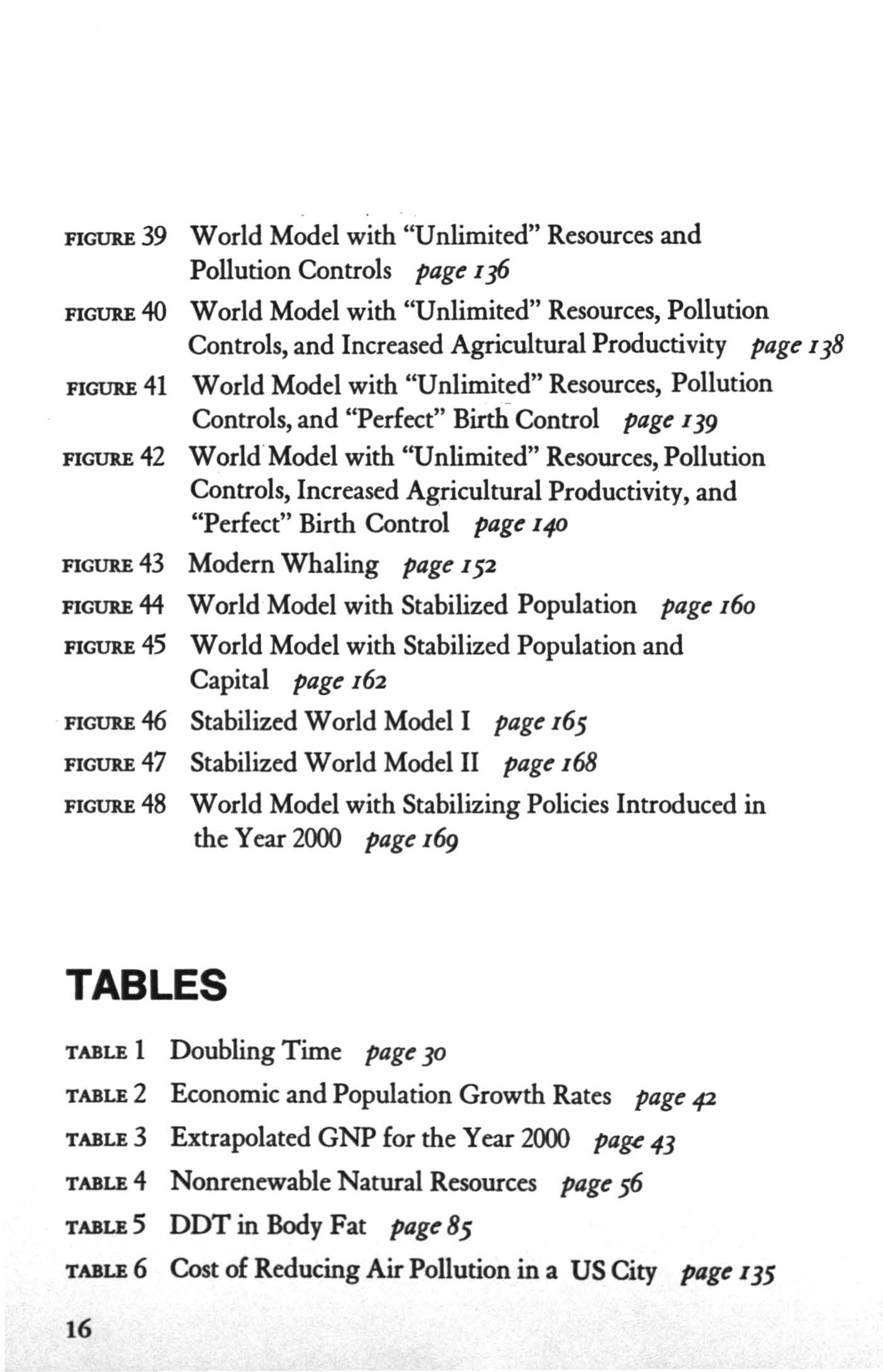 "FGUllE 39 World Model with ""Unlimited"" Resources and Pollution Controls page 1 ]6 FGUllE 40 World Model with ""Unlimited"" Resources, Pollution Controls, and ncreased Agricultural Productivity page 138"