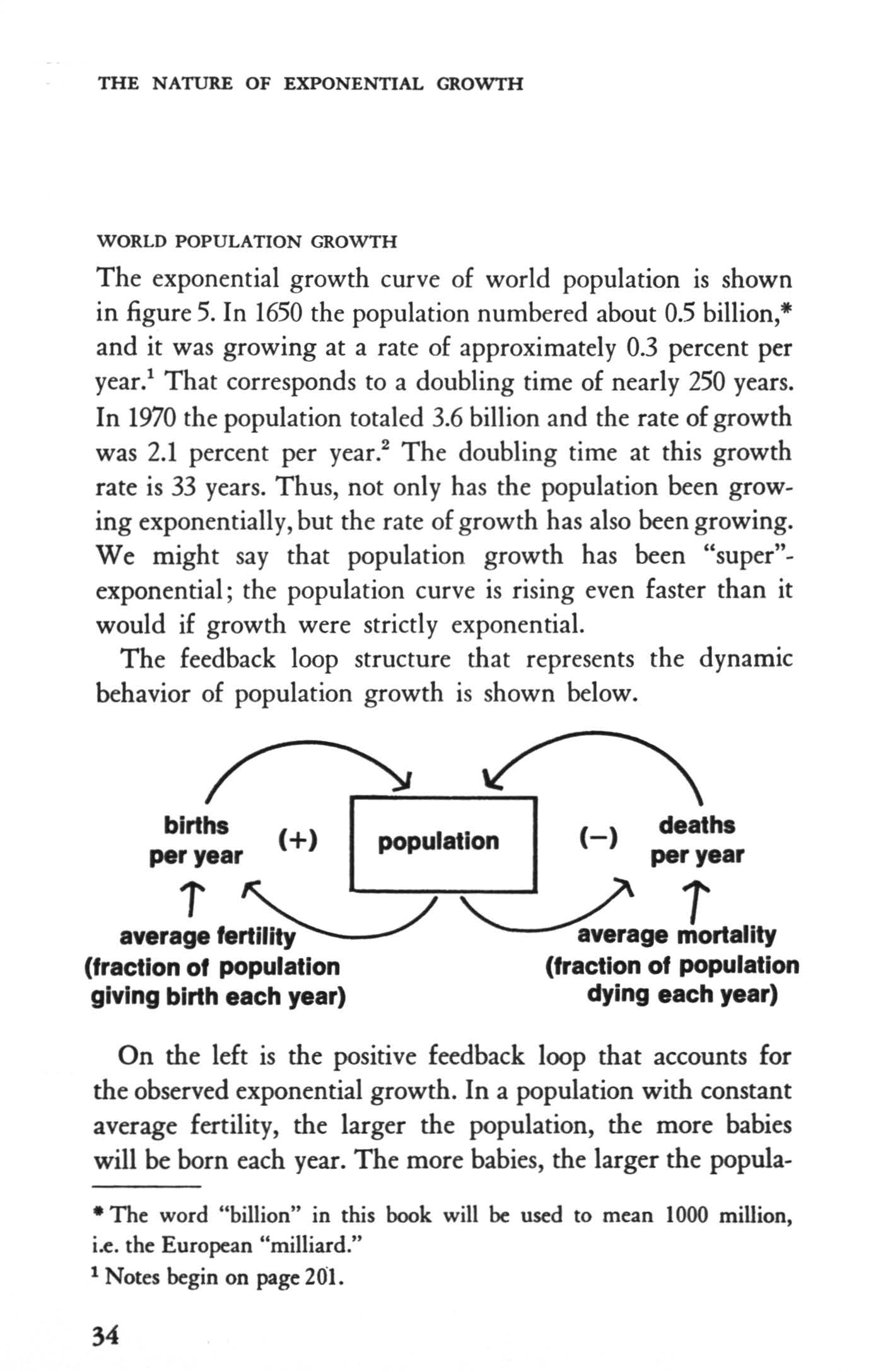 THE NATURE OF EXPONENTAL GROWTH WORLD POPULATON GROWTH The exponential growth curve of world population is shown in figure 5. n 1650 the population numbered about 0.