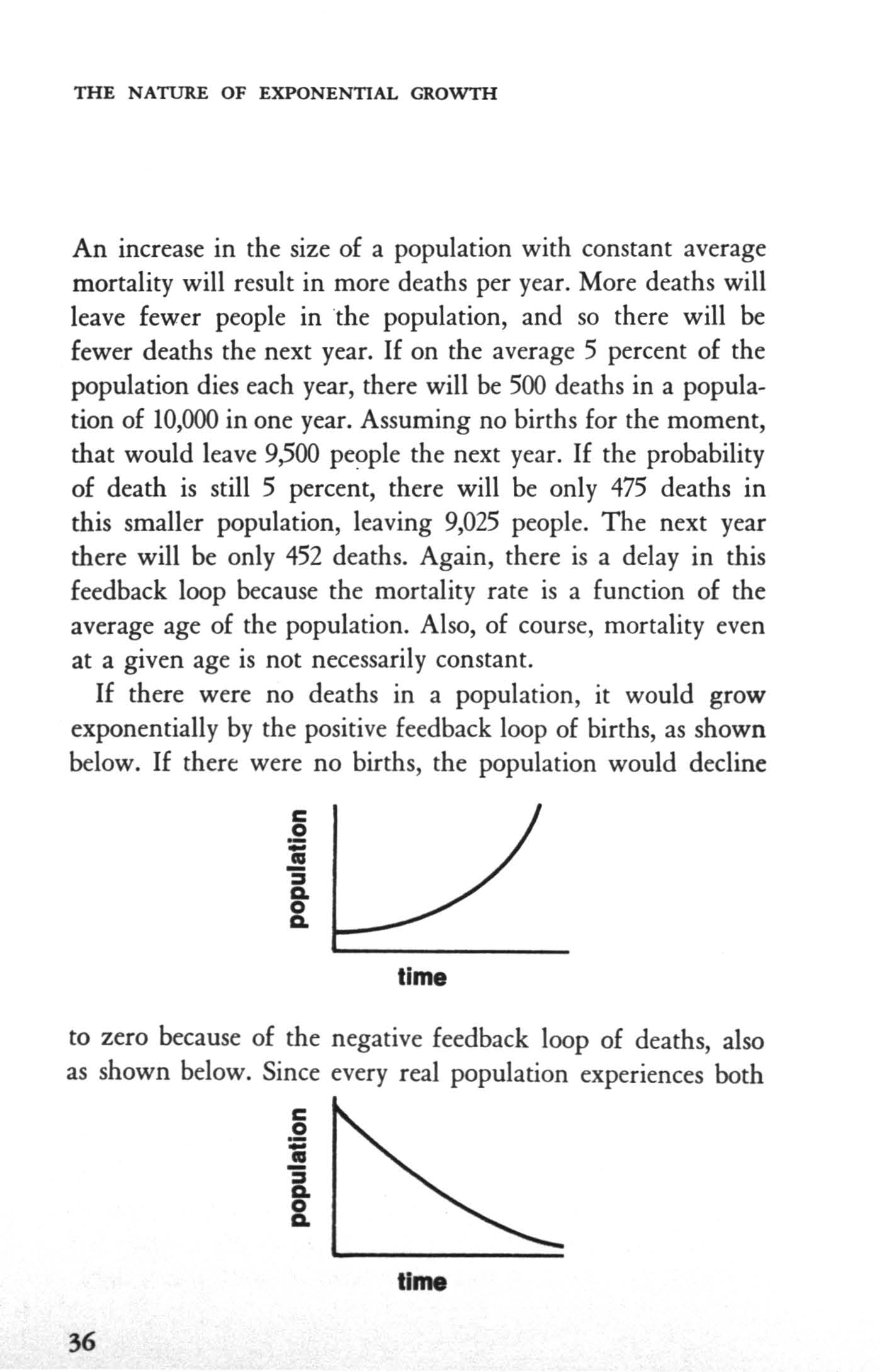 THE NATURE OF EXPONENTAL GROWTH An increase in the size of a population with constant average mortality will result in more deaths per year.
